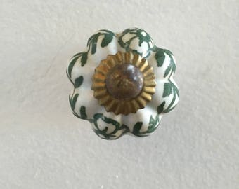 Vintage ceramic drawer knobs