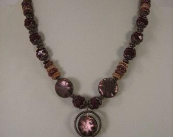 Copper and Ceramic Necklace