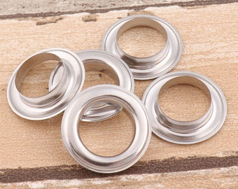 """1 3/8"""" Large  Eyelet Round Grommet Eyelet Silver Eyelet for Sewing Bead Cores Clothes Leather Hardware Craft Canvas Making- 20pieces"""