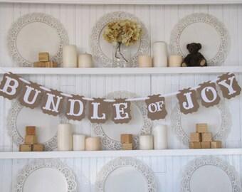 BUNDLE OF JOY   Baby Banner, Baby Shower Banner, Baby Sign, New Baby, Baby Girl Banner, Baby Boy Banner
