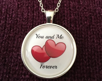 You And Me Forever, You Plus Me, You Complete Me, Me To You or Will You Marry Me Charm Necklace Is A Perfect Statement Necklace Gift For Her