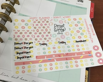 Happy Planner Donut Theme Stickers