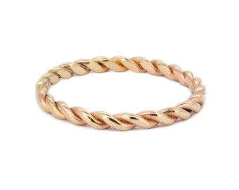 The Twist Ring - 9ct Gold Handmade Wedding Stacking Ring