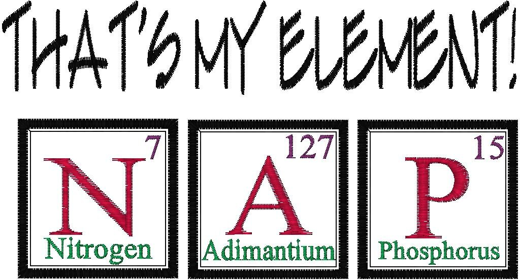 Periodic table joke design nap embroidery design urtaz Image collections