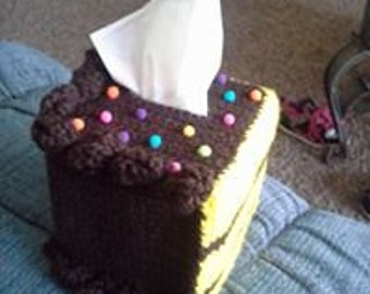 Piece of Cake Tissue Box Cozy