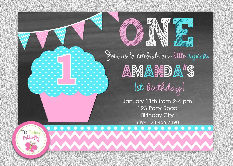 Chalkboard cupcake invitation cupcake birthday cupcake zoom filmwisefo
