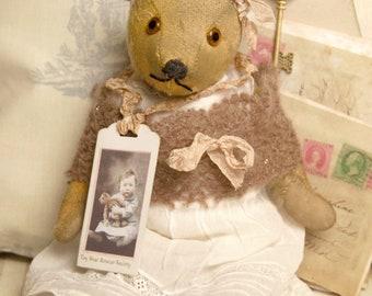 "Antique  Teddy bear - English Chiltern 15"" c 1930/40's Harriette  11""  130"