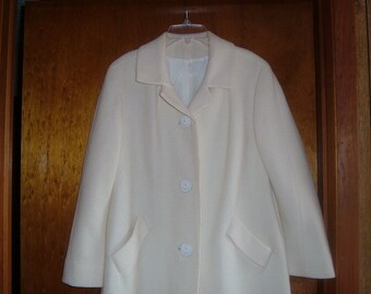 Winter White Dress Coat