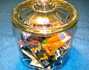 Vintage Embossed MI LOLA Cigar Co. / Cigar Humidor / Glass Jar /  Cigarette, Tobacco