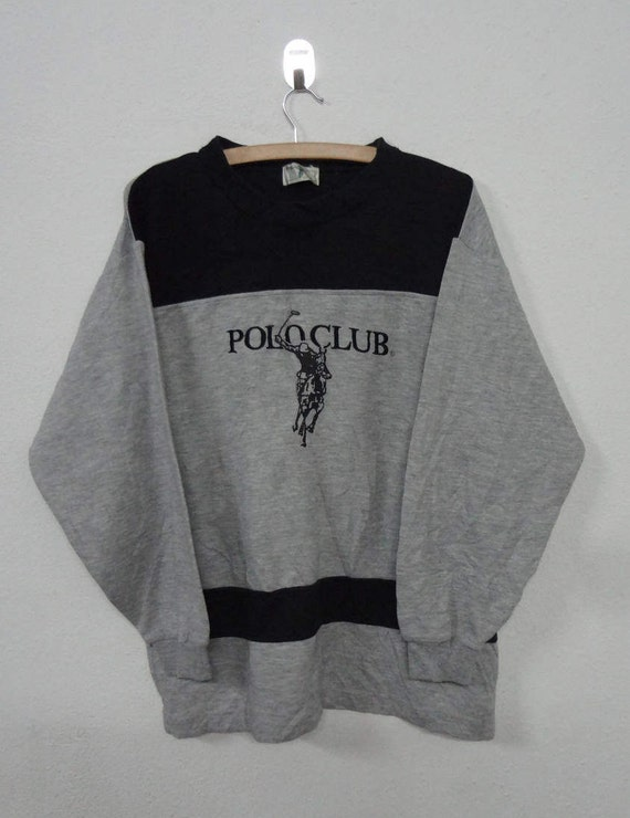 Polo Sweatshirt Black Polo Club Jumper Pullover Large Ib4qGEpKuM