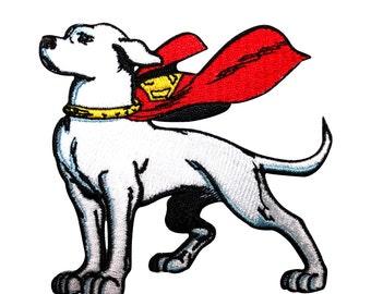 Krypto the Superdog Patch Superman's Super Pet DC Comics Kids Iron-On Applique