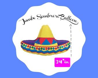 JUMBO Sombrero Balloon,Tropical fiesta, Taco party, Fiesta party,Tequila and Tacos, Lets fiesta, Cinco de mayo, Fiesta Theme, Mariachi Party
