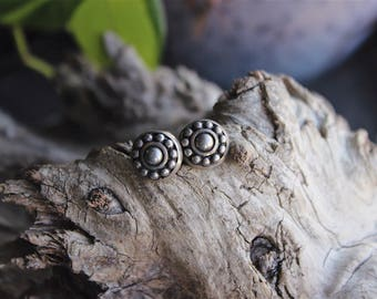 Vintage sterling silver earring studs