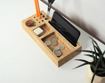 Desk organizer, desktop organizer, desk accessories, desk tray, office organizer, office accessories, wooden organizer, catch all, storage