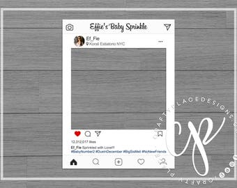 Instagram photo booth frame | Social media photo booth prop | Wedding photo prop | Selfie frame | Printed