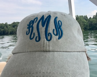 Monogrammed Hat Baseball Cap - Bridesmaids Gift - Personalized Hat - Monogrammed Baseball Hat - Ladies Monogrammed Baseball Hat