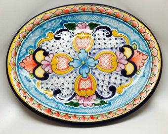 Mexican Talavera Oval Plate