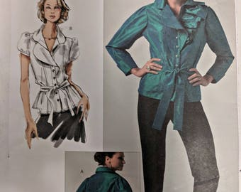 V1017, Vogue, Sewing Pattern, Blouse Pattern, Out of Print, Sandra Betzina, Today's Fit, One Size