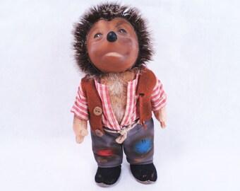 Steiff Mecki Pa Hedgehog Doll Vintage 50s