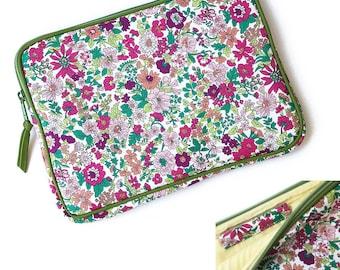 iPad Pro case, iPad case with Apple pencil holder :  LIBERTY of london Emily (Raspberry) ,iPad Pro sleeve, iPad