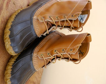 Vintage LL Bean Duck Boots Womens Ladies L9 Medium