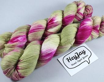 Hand Dyed Sock Yarn Superwash Merino/Nylon - Cordyline