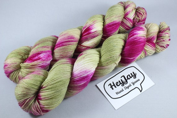 Hand Dyed Sock Yarn Superwash Merino/Nylon - Cordyline