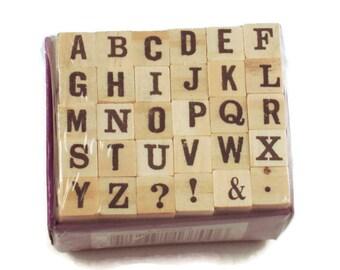Mini Alphabet Rubber Stamp Set  (ARS-10)