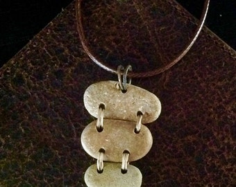 Natural Stacked Stone Necklace Handmade