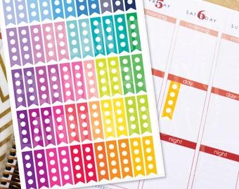 Planner Stickers Erin Condren Life Planner (Eclp) - 55 Flag Circle Checklist To Do Stickers (#7017)