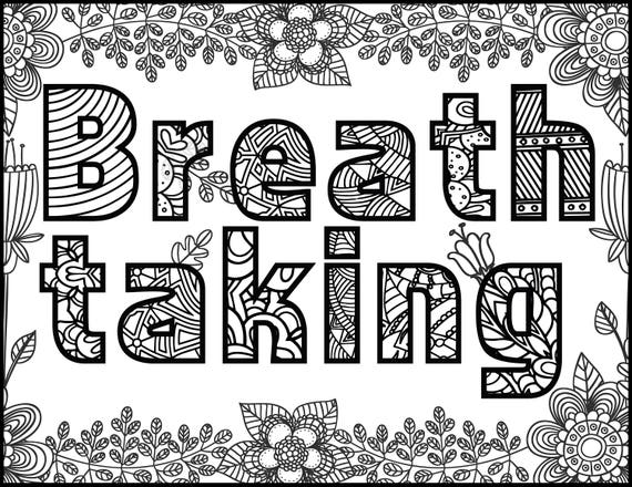 Positive Affirmations Coloring Pages For Adults Adult Coloring