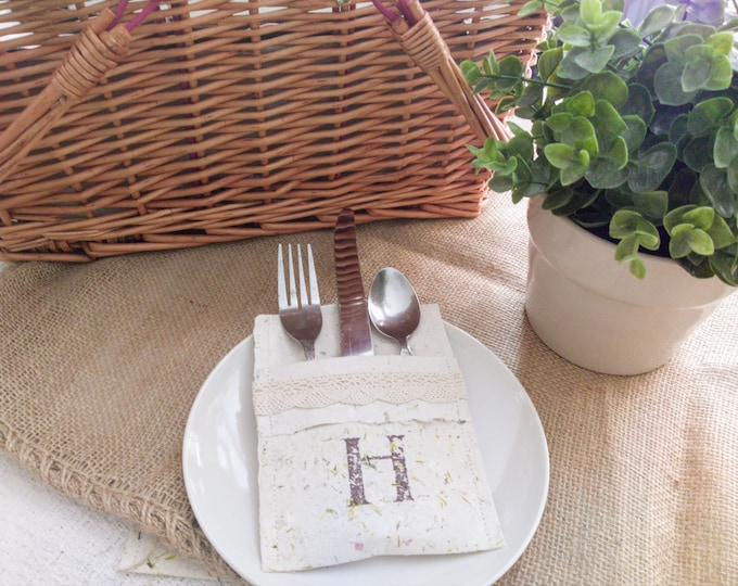 Featured listing image: Handmade Paper Flatware Pockets