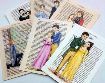Jane Austen Art Postcards - Austen Couples - Pack of 60