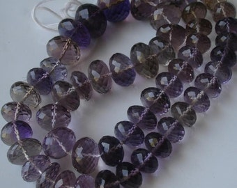 AMETRINE Huge Size 11-15mm size Rondells,Superb-Finest Quality,Great Item at Low Price