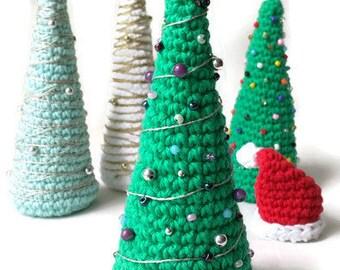 Crochet Amigurumi Christmas Tree, Plush Holiday Tree, Mini Tree, Stuffed Xmas Tree, Colorful Christmas Decoration, Table Top Holiday Decor