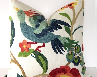 Decorative Bird Pillow Cover - Richloom Lucy Eden - Accent pillow - Throw Pillow