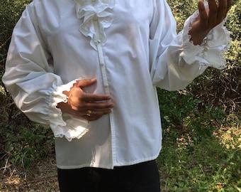 Theatr Paris theatrical white costume shirt