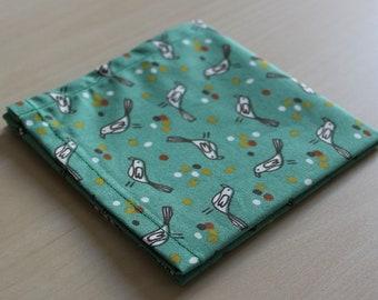 Handkerchief - 24 x 24 cm - bird motif