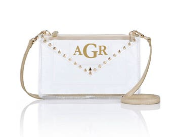 Gold Stud Envelope Clutch