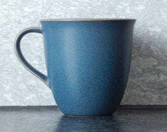 Scandinavian Vintage Höganäs Keramik Stoneware Graysh Blue Semi Matte Mug Pottery by Stengods Sweden Scandinavian Design