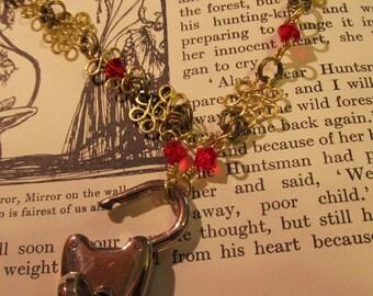 Item 2280 Red Swavorski Crystal Bronze Collar