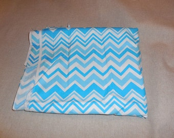 Destash- Over One Full Yard Of Turquoise And White Chevron Quilters Cotton