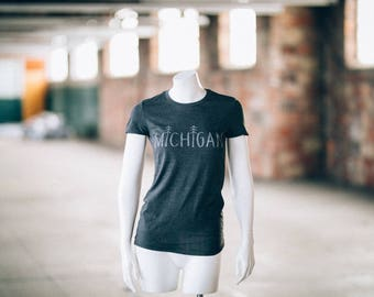 Michigan Trees Design T Shirt
