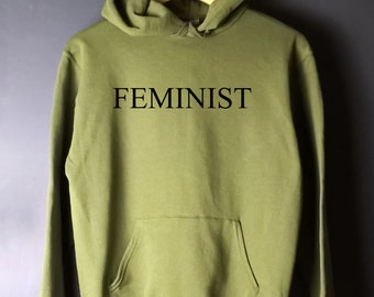 Feminist jumper, feminist sweater, feminist hoodie, feminist sweatshirt, army green sweater, army green hoodie, gift for dad, army colours