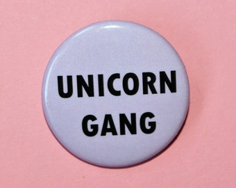 unicorn gang flair button