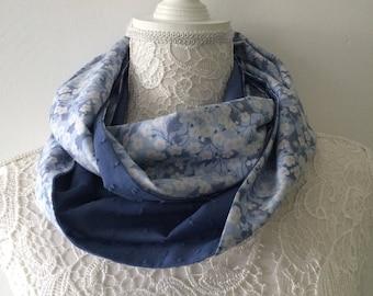 Liberty Tana Lawn Mitsi women - blue hyacinth scarf