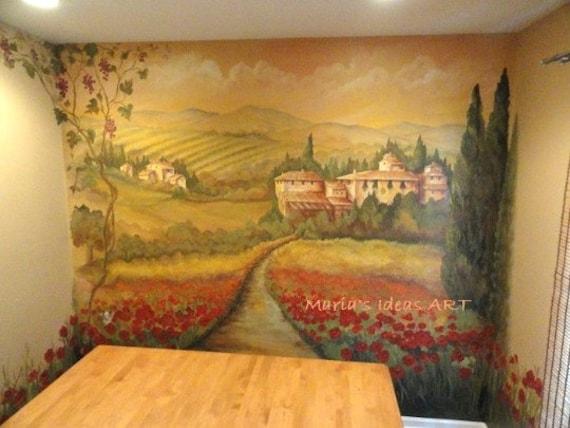 Estimate for Tuscan Mural Vineyard murals wall murals