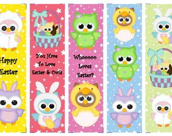 Easter Owl Book Marks