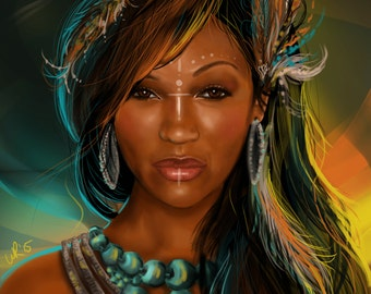 Meagan Good - Warrior Print