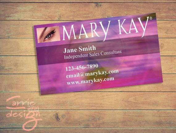 Mary Kay Business Cards Printable Pink Custom Make Up